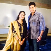Mahesh with Anchor