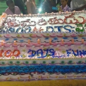 100kgs cake for Srimanthudu 100 days